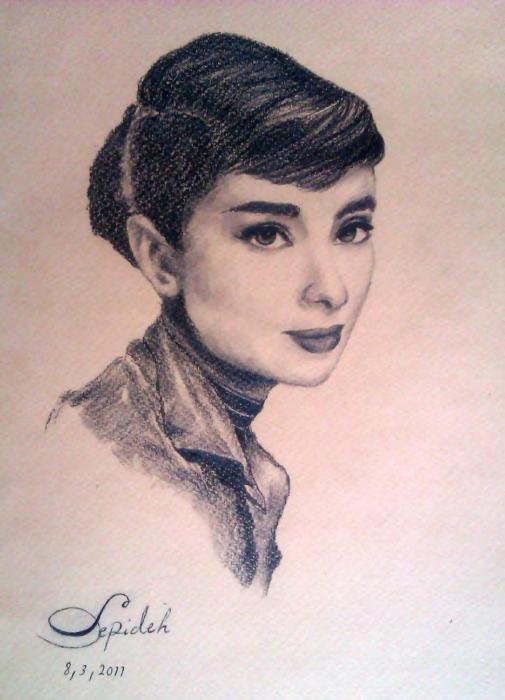 Audrey Hepburn by 3pde
